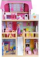 Drewniany domek dla lalek + 2 lalki gratis