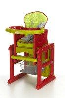 Krzesełko do karmienia 3w1 Zielono-Czerwone