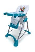 Krzesełko do karmienia Baby Maxi DUŻE- niebiesko-białe