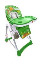 Krzesełko do karmienia Baby Maxi ROZKŁADANE- ZIELONE