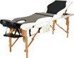 Łóżko do masażu 3 segmentowe dwukolorowe czarno - białe
