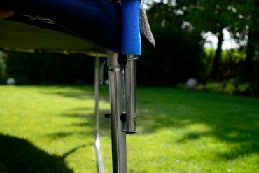 Trampolina ogrodowa dla dzieci 435cm z siatką zewnętrzną i drabinką