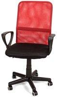 Fotel biurowy wentylowany XENOS JUNIOR czerwono - czarny
