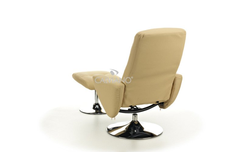 Fotel Tv Z Puffem Beżowy Beżowy Fotel Beżowy Fotele I