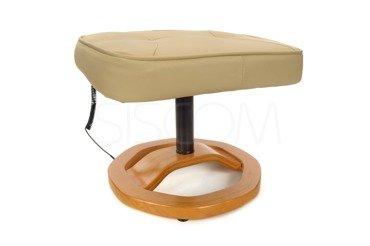 Fotel wypoczynkowy z masażem + puff z masażem beżowy