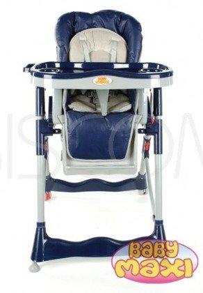 Krzesełko do karmienia składane, niebieskie, model 202