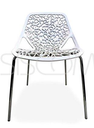 Krzesło Ażurowe Gerardo białe