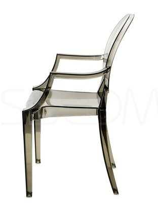 Krzesło - Fotel - dymiony Loretta