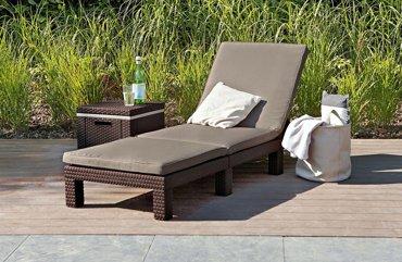 Leżak ogrodowy DAYTONA brązowy