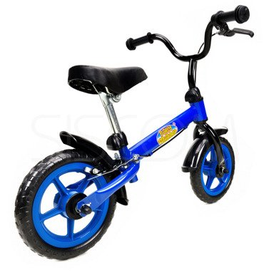 """Rowerek biegowy metalowy 10"""" niebiesko - czarny"""