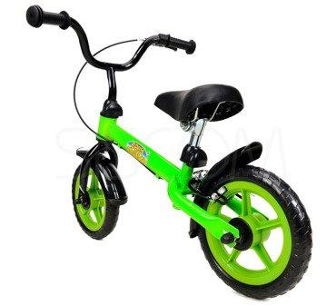 """Rowerek biegowy metalowy 10"""" zielono - czarny"""