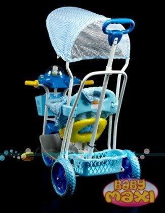 Rowerek trójkołowy z pozytywką kaczuszka niebieski