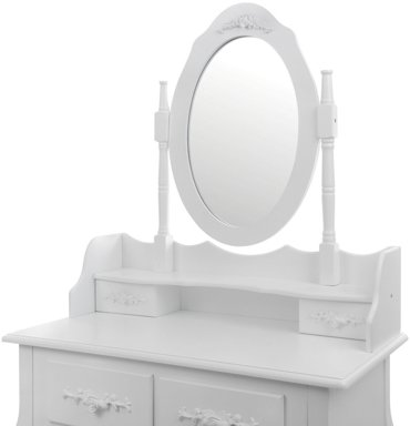 Toaletka kosmetyczna z lustrem i taboretem