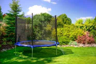 Trampolina ogrodowa dla dzieci 312cm FUNFIT z siatką zewnętrzną i drabinką