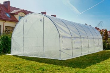 Tunel Foliowy BIAŁY z oknami - 18m2 = 600*300*200